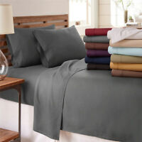 Ultra Soft 1800 Count Bed Sheets Set 4 Piece Bed Sheets Breathable Bedding Queen
