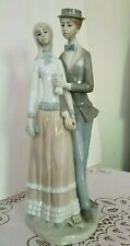 """Vtg Courting Couple 14 1/2"""" Tall Hand Painted Ardalt Figurine Excellent Cond."""