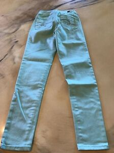 Justice Size 12 R Light Green Jeans