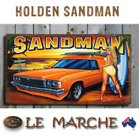 HOLDEN SANDMAN Surfy Chick Wooden Rustic Plaque / Sign (FREE POST)
