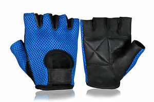 LEATHER WHEELCHAIR GLOVES FINGERLESS HALF FINGER FITNESS SPORTS WEIGHT LIFTING