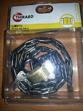 Chaine 4mm long 0,90m + Cadenas 40mm Thirard pour portail