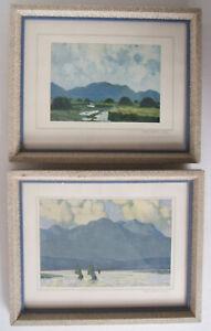 2 Paul Henry Prints - Connemara Bog Landscape & The Fishing Fleet, County Galway