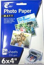 "6 x 4"" Matt Photo Paper Matt Pack Of 26 Sheets 235gsm print colour images UK P&P"