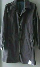 Italian Montedoro Slowwear Rare Men's Raincoat Cotton Mac Trench Coat Size 46 M