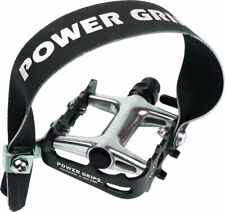 "Power Grip Performance Pedals/Strap Combo - Aluminum 9/16"" Black"