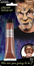 28ml Cream Face & Body Paint Fancy Dress Party Make Up Accessory - Brown
