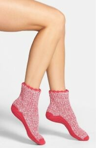 Womens Nordstrom Slipper Cozy Socks Pink and Grey One Size