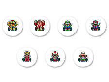 Lot Pack Badge Button Ø25mm Mario Kart Video Game Retro Nintendo