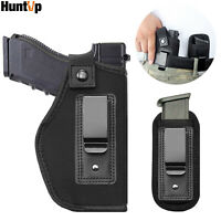 Universal IWB Tactical Gun Holster with Mag Magazine Pouch Concealed Carry Black