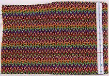 """Rare Multi-color European Zigzag 11-7/8"""" Gimp Lame Fabric Trim (2 yards, 10"""")"""