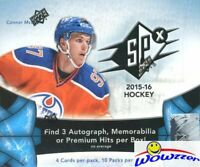 2015/16 UD SPX Hockey Factory Sealed HOBBY Box-3 AUTOGRAPH/MEM/PREMIUM HITS