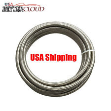 1 Foot -4 AN Stainless Steel Braided Fuel Oil Line Hose Air Water AN4