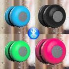 Waterproof Wireless Bluetooth Handsfree Mic Suction Shower Speaker Car Stereo