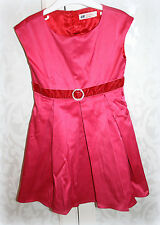 Ƹ̵̡Ӝ̵̨̄Ʒ H&M Kleid Festkleid Pink Rosa Rot Satin Samt Gr 104 3-4 Ƹ̵̡Ӝ̵̨̄Ʒ