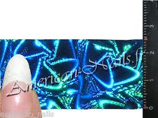 Rouleau Foils Nail Art Foil déco ongle Bleu Turquoise wheel Holographique 150 cm