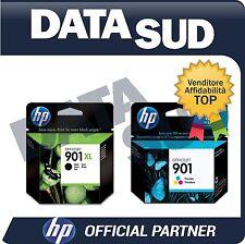 CARTUCCE HP 901XL BK+901 COLORE ORIGINALI  INK-JET PER HP Officejet 4500,G510..