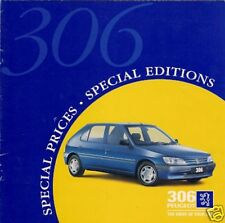 Peugeot 306 Genoa Spinnaker XS S D Turbo S Limited Editions 1996 UK Brochure
