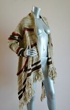 Nwt Ralph Lauren Jeans Co. Serape Indian Open Cardigan Fringe Sweater S / M