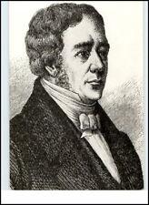 DDR Porträt-Karte Berühmte Person: Hans Christian Oersted 1777 - 1851