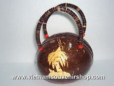 Handmade Vietnam handbag by Coconut - Hand carved dauphins pattern