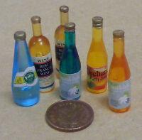 1:12 Escala 6 Combinado Bebidas Botellas Tumdee Casa de Muñecas Miniatura BAR
