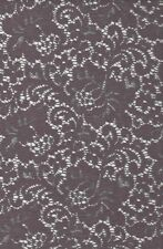 Grey Brushed Lace Fabric 143cm Wide Rigid