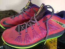 Nike LeBron X low fireberry Size 15. Worn twice.