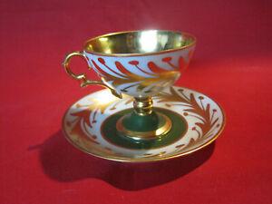 Vintage Rene Caire Limoges Porcelaine d'Art demitasse cup and saucer