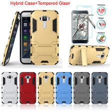 """Shockproof Hybrid Case + Tempered Glass Film For ASUS Zenfone 3 ZE552KL 5.5"""""""