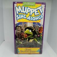 MUPPET TREASURE ISLAND SING ALONGS 1996 VHS NEW SEALED VG Jim Henson The Muppets