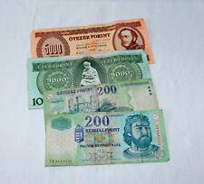 4 alte ungarische Forint-Geldscheine