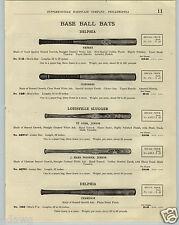 1923 PAPER AD Delphia Louisville Slugger Baseball Bat JR Ty Cobb Decal Mushroom