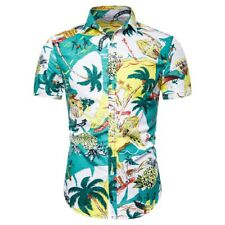 Men's Fashion Hawaii Style Pattern Print Casual Short Sleeve Shirt