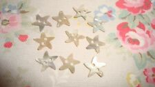 10 STAR Shape Agoya/Mother of Pearl Buttons  -Swirl Shape