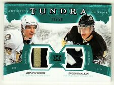 Sidney Crosby / Malkin _RARE /50_ Tundra Tandems Artifacts Jersey Patch Penguins