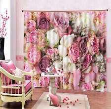 Multicolored Decorations 3D Curtain Blockout Photo Print Curtains Fabric Window