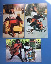 Comical Chimpanzees Postcards (3), Performing At Miami Fl Monkey Jungle