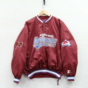 Vintage Colorado Avalanche Starter Pullover Windbreaker Jacket Large 90s NHL