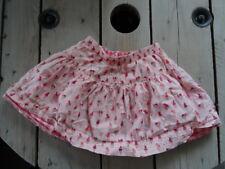 Jupe volants rose évasée imprimée glaces doublée tissus vichy DPAM Taille 5 ans