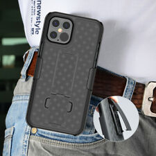For iPhone Mini 12 Pro Max Shockproof Heavy Hybrid Holster Belt Clip Case Cover