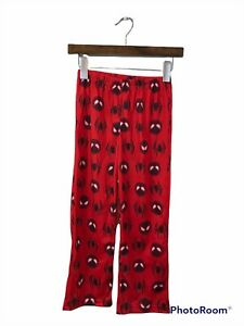 Boy's Size Small Pajama Pants Red Spiderman Lounge Flame Resistant Polyester