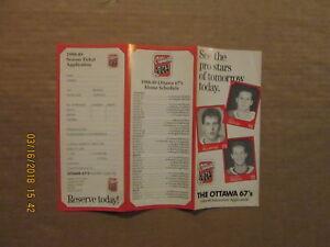 OHL Ottawa 67's Vintage Circa 1988-89 Hockey Season Ticket Brochure