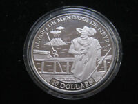 "MDS SOLOMON ISLANDS 10 DOLLARS 1991 PP / PROOF ""ALVARO DE MENDANA"", SILBER  #23"