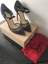 christian louboutin 42 — Magicadiva 100 Lace Chantilly/Suede