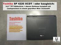 """Toshiba Satellite Pro 4220 XCDT Spareparts: 14,1"""" TFT Bildschirm mit Gehäuse Top"""