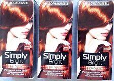 *SALE* 3X Mellor &Russell Permanent Hair Dye Colour Simply Bright- Burnt Orange
