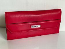NEW! KENNETH COLE REACTION HAUTE RED LAUREN CLUTCH WALLET W/ COIN PURSE $50 SALE