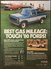 1980 Ford Pickup Trucks F150 Courier Advertising American-Built Vintage Print Ad
