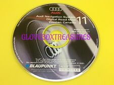 AUDI NAVIGATION DVD MAP CD GPS NAV DISC CD11 WESTERN CANADA ZBW D02 DCA 11.